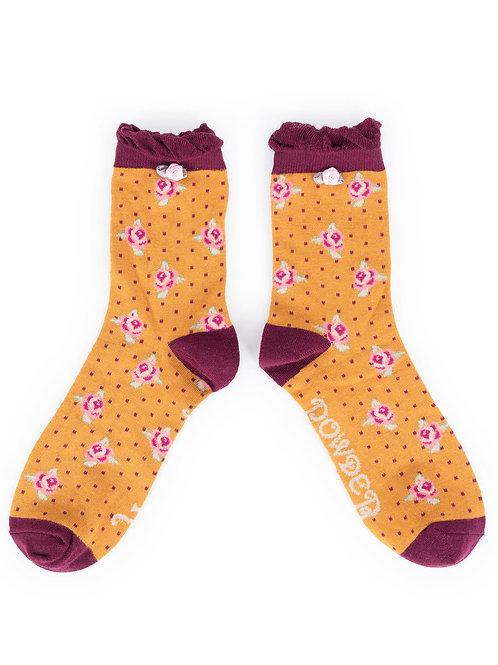 Powder Design RosebudAnkle Socks Mustard