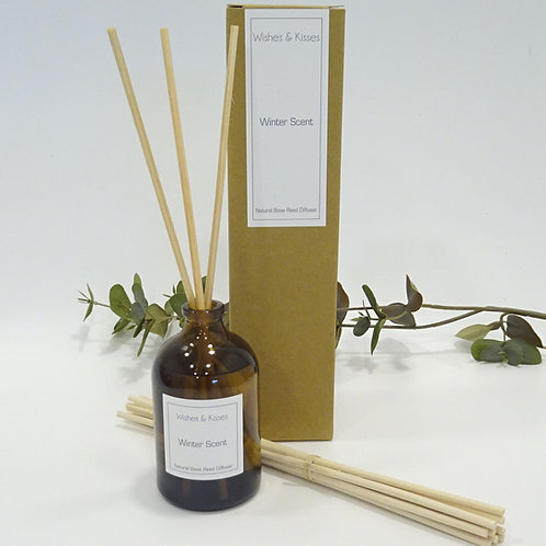 Winter Scent reed diffuser by wishes and kisses