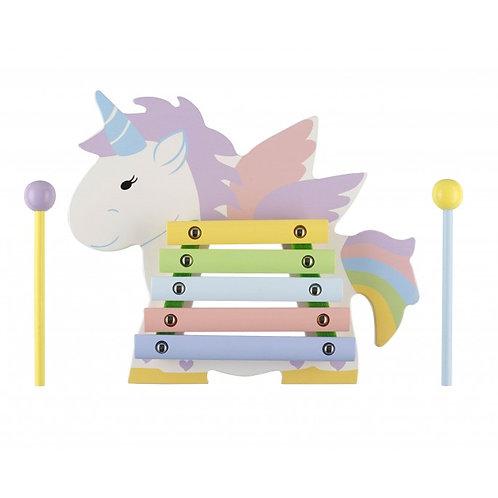 unicorn wooden xylophone by orange tree toys