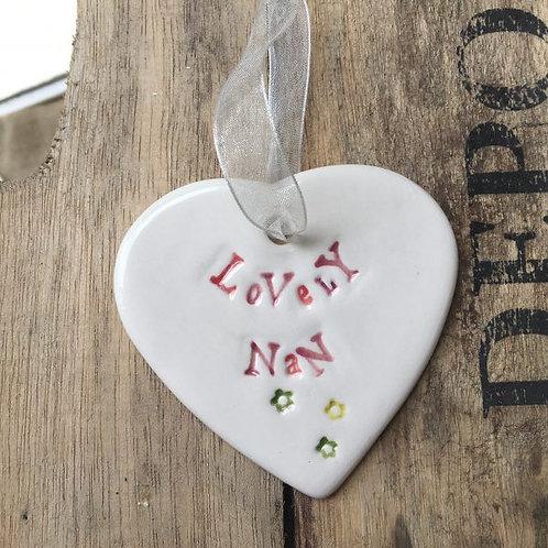 Lovely Nan gift heart