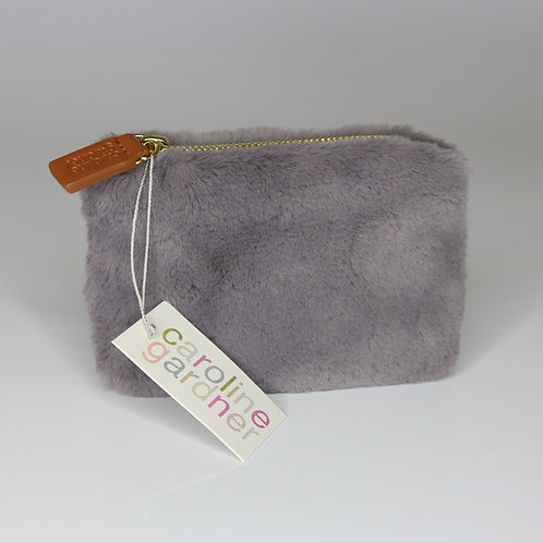 Grey Faux Fur Purse