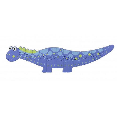 amazing bright blue alphabet puzzle dinosaur