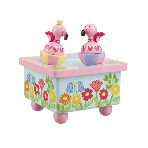 flamingo music box toy