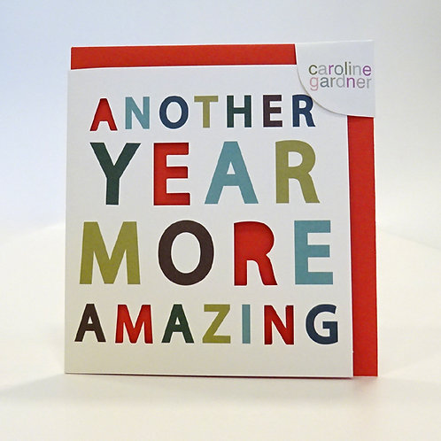 another year more amazing card