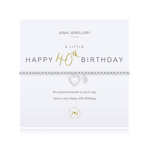 40th birthday bracelet by joma jewellery