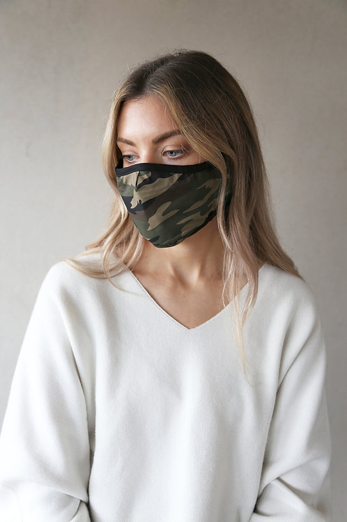 Green Camoflage facemask