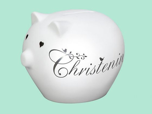 Repeat Repeat Precious Piggy Bank Christening