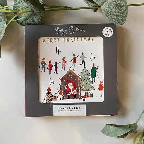 Belly Button Santa Xmas card set