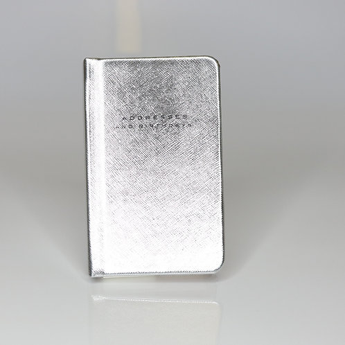 Caroline Gardner Small Silver Address Book