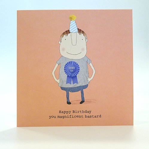 magnificent bastard birthday card