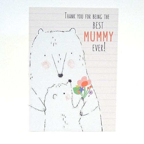 Polar Bears mothers day card