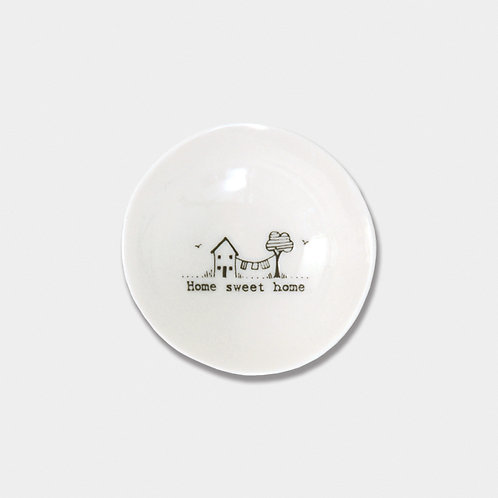 East of India Home Sweet Home porcelain bowl