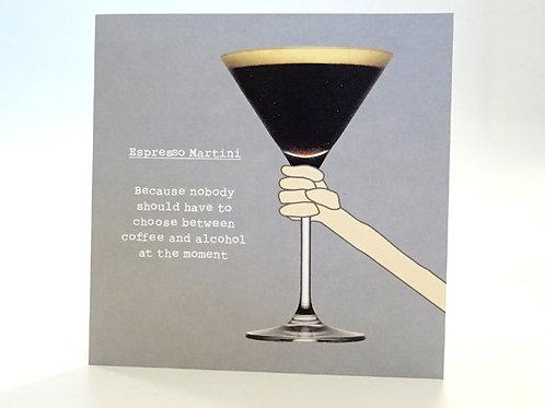 Expresso Martini humorous card