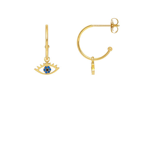 All seeing eye gold plated earrings