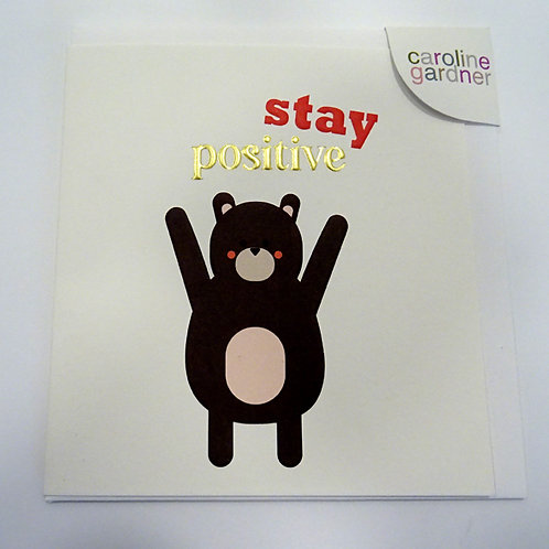 stay positive sentiment card