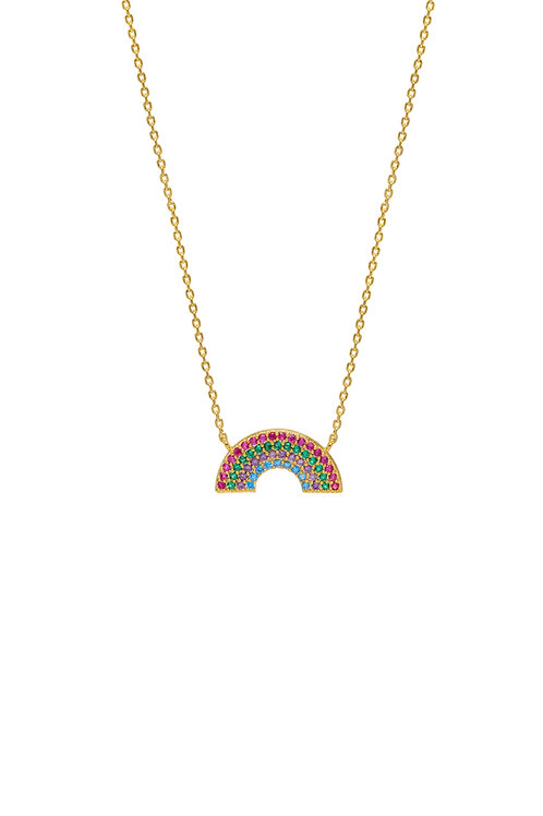 Rainbow necklace in gold plated finish by estella bartlett