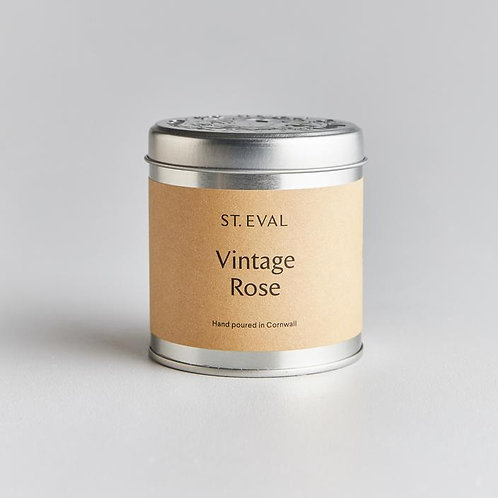 Vintage rose tinned candle