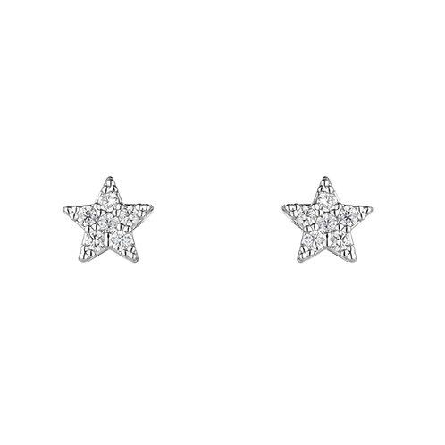 Cubic zircona stud earrings by estella bartlett
