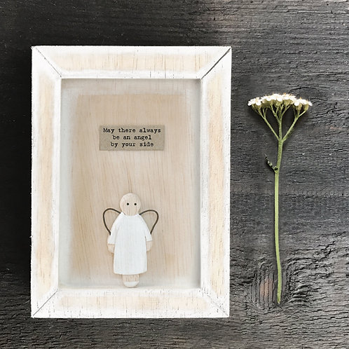 wooden frame picture with carved angle by east of india