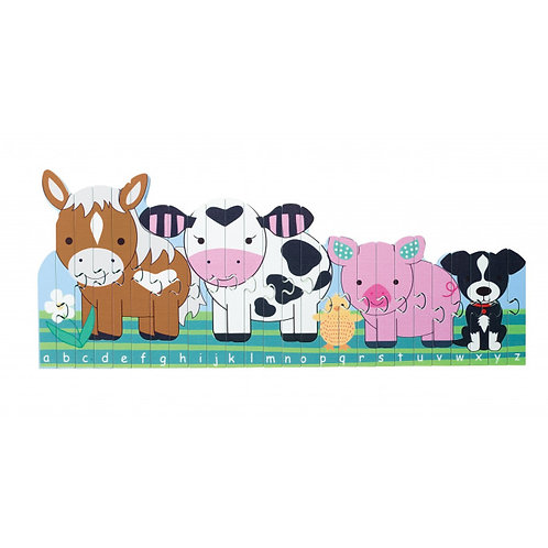 Farm animal puzzle game by orange tree