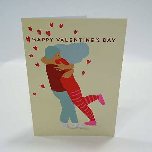 hugging couple valentines day card by Noi