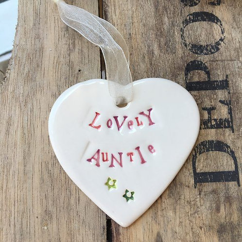 Special Auntie gift heart