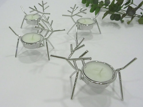 retreat home rudolph tealight holders in chrome finish