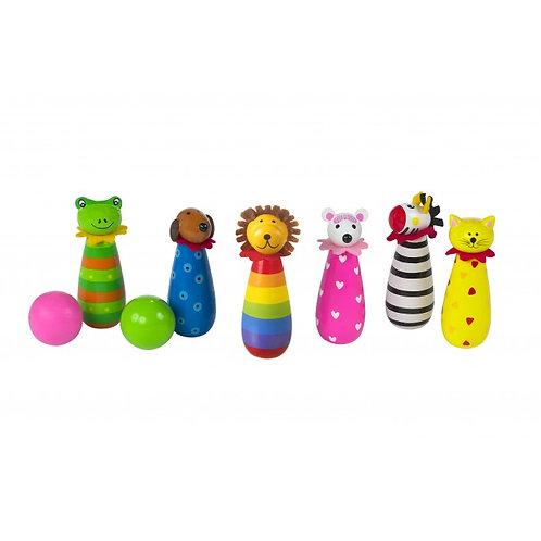 Animal Wooden Skittles Set