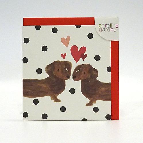 sausage dog valentine's day card