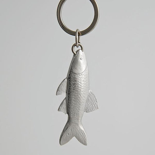 pewter fish key ring
