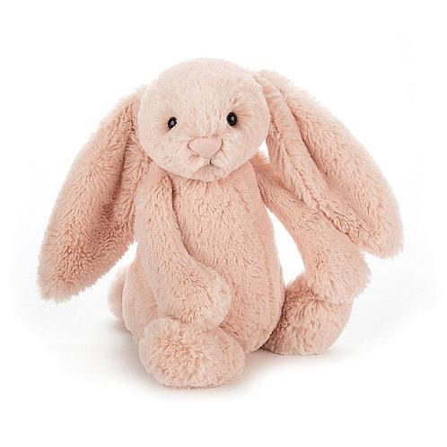 blush pink jellycat rabbit is so soft