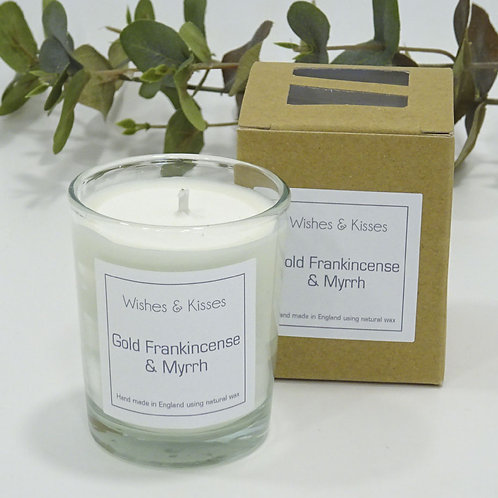 Gold Frankincense and Myrrh scented candle