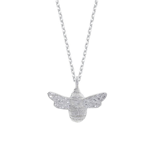 silver plated bee necklace by estella bartlett