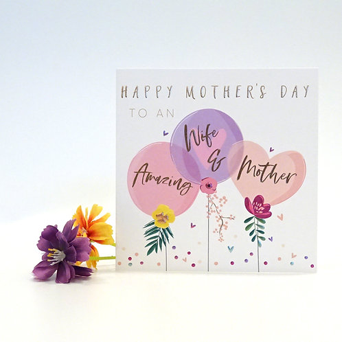 amazing wife and mother card