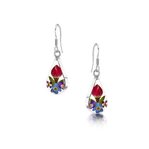 Tear drop flower earrings by shrieking violet