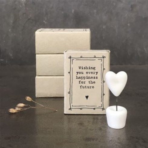 white porcelain heart wishing you every happiness