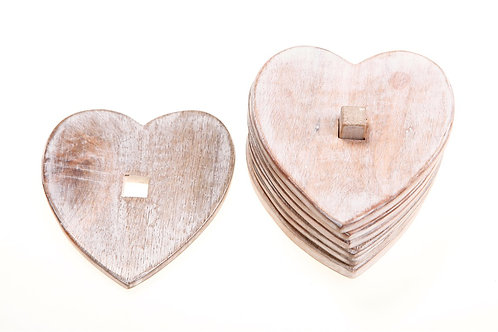 Sass and Belle Wooden Heart Coasters