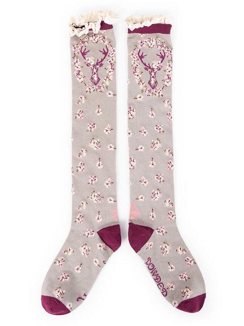 Powder Design StagKnee High Socks Slate