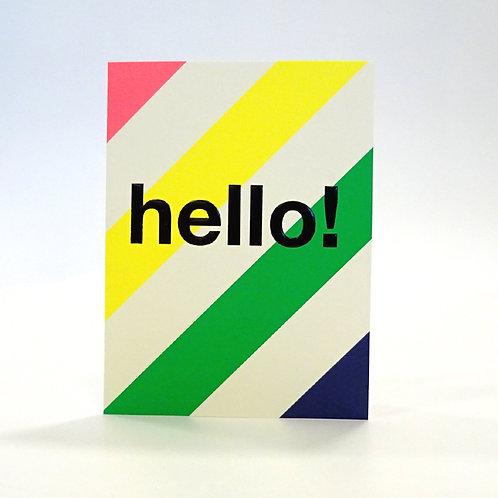 Langom Design Hello! card