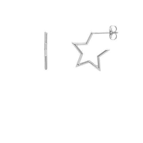 estella bartlett open star hoop earrings