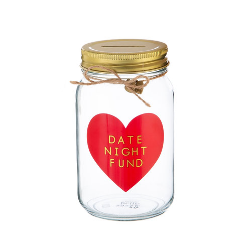 savings jar in glass by sass and belle