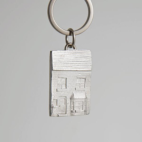 pewter house key ring
