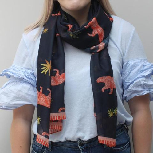 disaster designs leopard scarf