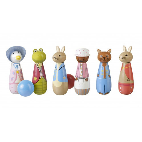 Peter Rabbit wooden skittle set