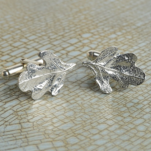 beautiful oakleaf pewter cufflinks