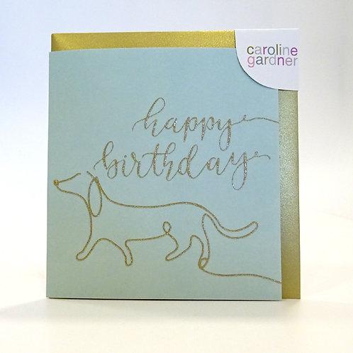 Dog design birthday card