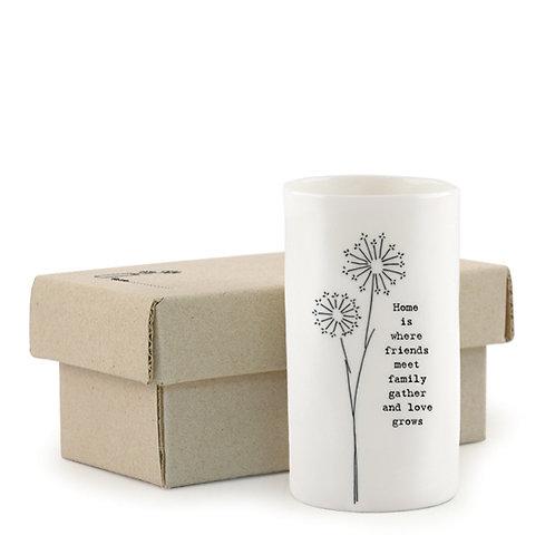 home is where friends meet vase
