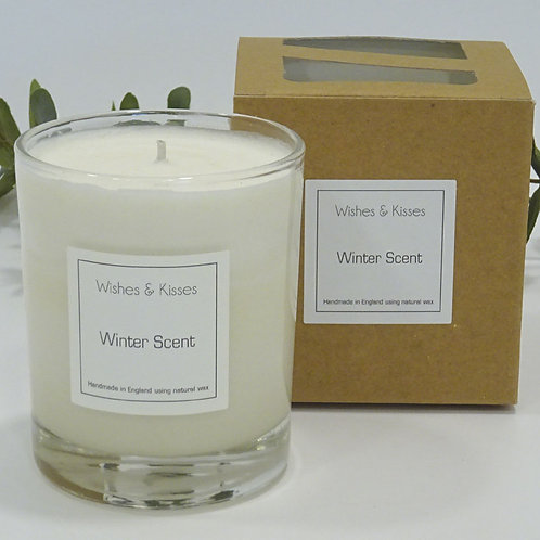 large winter scent candle