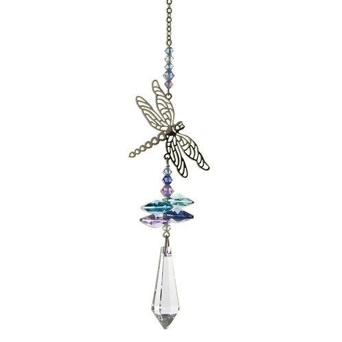 pastel dragonfly crystal hanging gift by wild things