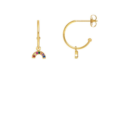 Mutli coloured rainbow drop earrings from estella bartlett
